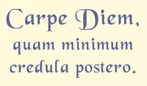 Carpe diem poster.