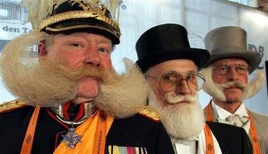 Modern style beards.