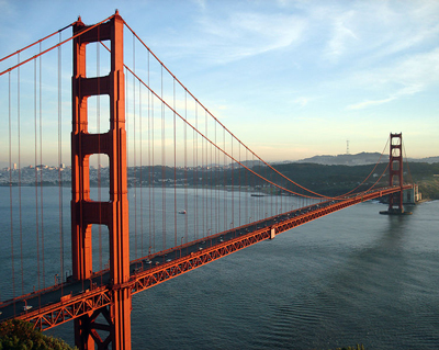 A catenary bridge.
