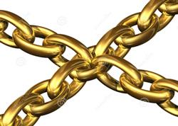Golden chains.