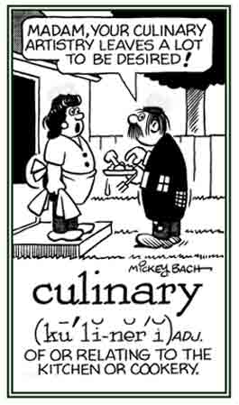 Pertaining to delicious meals.