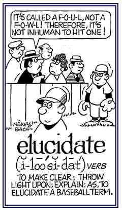 What is the meaning of elucidating