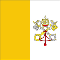 An ecclesiastical or Vatican City flag.