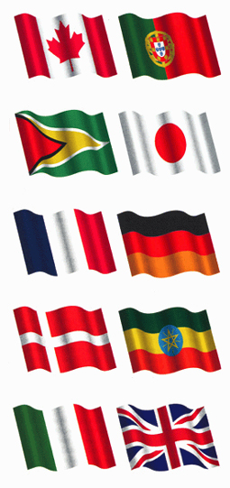 Flags of the world.