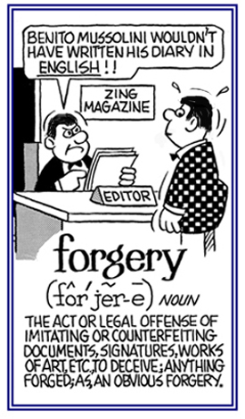An illegal act of making false statements verbally or in writing in order to deceive others.