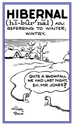 Wintry period.