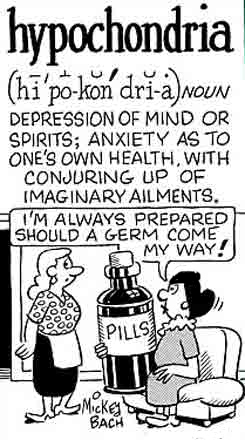 A woman has a large bottle of medications to fight off illness.