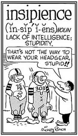 Unintelligent, foolish.