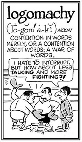 A war of words.