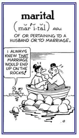 It's about marriage.