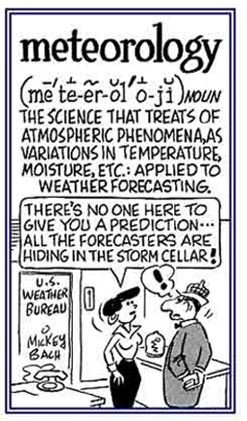 Weather predictions.