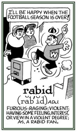 A wild rabid fan.