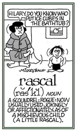 A scoundrel or mischievous child.