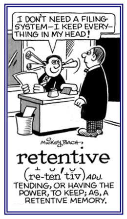 Conveying the power to have a retentive mind.