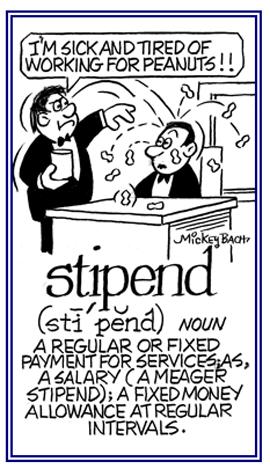 A regular payment at regular times.