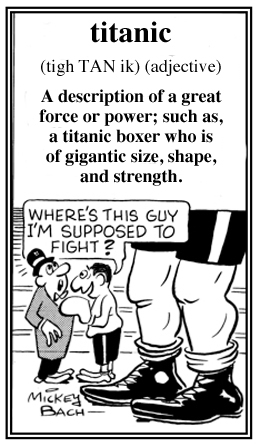 A gigantic or titanic opponent is ready to box the other miniature boxer.