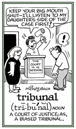 A biased judgement made by a judge.