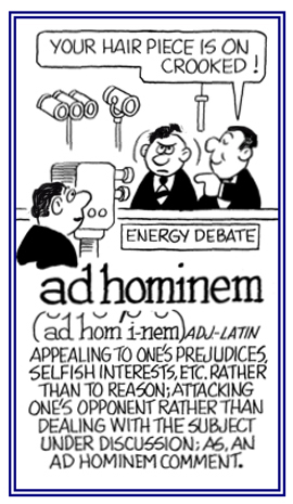 a report on two fallacies the ad hominem fallacy and the appeal to common practice fallacy