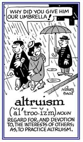 cartoon of altruism