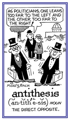 difference between antithesis and contrast
